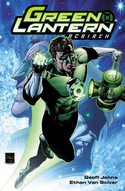 Hal Jordan Green Lantern flying through space