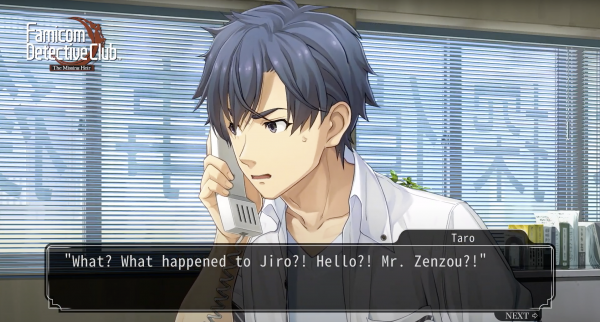 """""""What happened to Jiro?"""" the MC asks into a phone"""