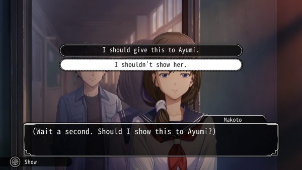 Dialogue options for speaking with Ayumi