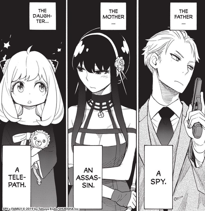 """""""Daughter, a telepath, the wife, an assassin, the father, a spy."""""""