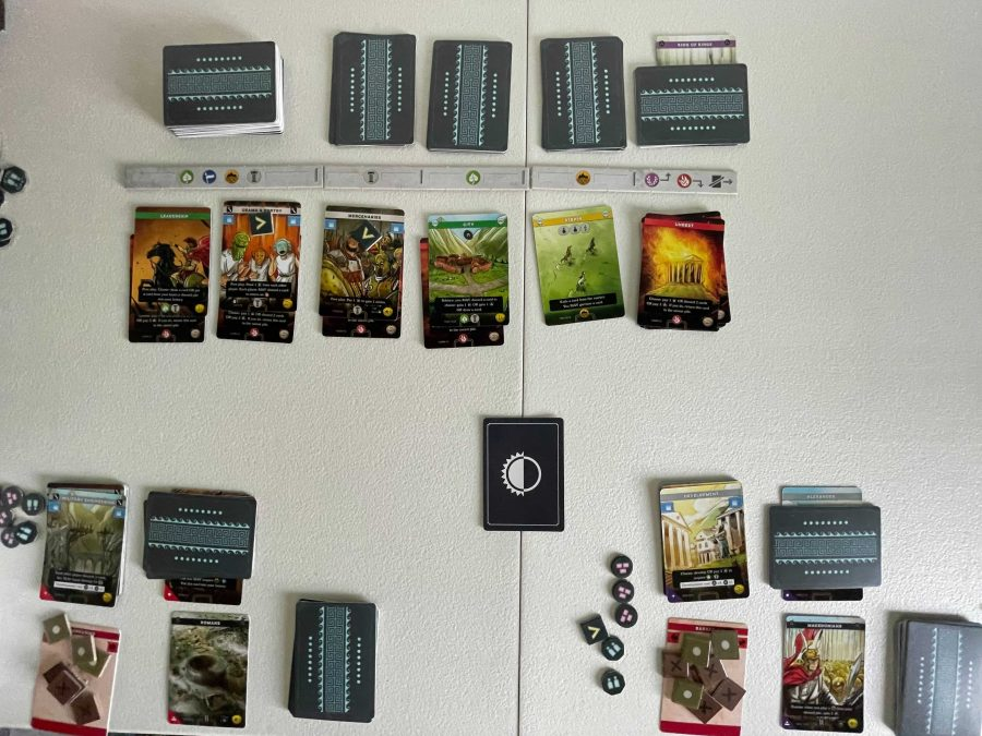 Setup for a two-player game.