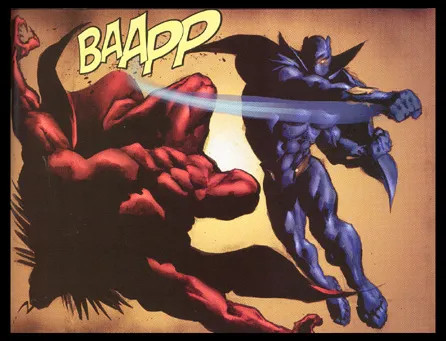 Black Panther punches Mephisto